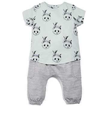 Mamas and Papas Baby Girls' 2 Piece Panda Tee & Jogger Clothing Set
