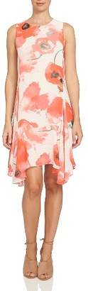 Women's Cece Watercolor Poppy Shift Dress $129 thestylecure.com
