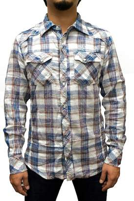Cult of Individuality Plaid Woven Regular Fit Shirt