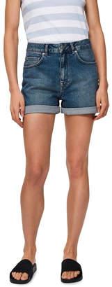 Selected Dark Blue Denim Shorts