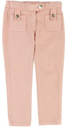 Chloé Denim Braided Trousers, Size 6-10