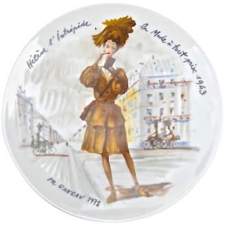 One Kings Lane Vintage French Porcelain Fashion Plate - 1943 - Vermilion Designs