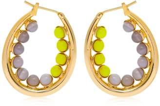 Anton Heunis Color Block Oval Hoop Earrings