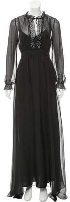 Pinko Silk Maxi Dress