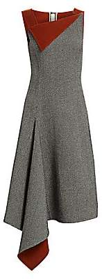 Oscar de la Renta Women's Asymmetric Knit Wool & Cashmere Dress