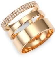 Repossi Diamond Pave 18K Rose Gold Layered Ring