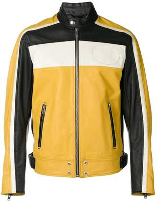 Diesel colour-block zipped jacket