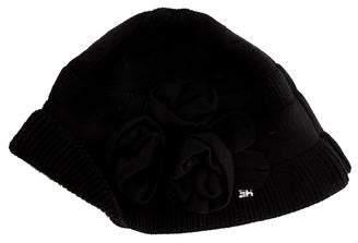 Sonia Rykiel Floral Appliqué Wool Hat