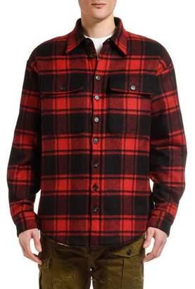 DSQUARED2 Men's Wool Plaid Shirt Jacket