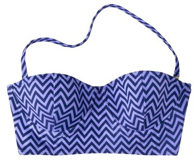 Xhilaration Junior's Midkini Swim Top -Chevron