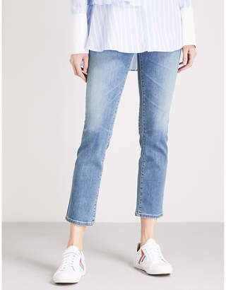 AG Jeans The Isabelle high-rise straight cropped jeans