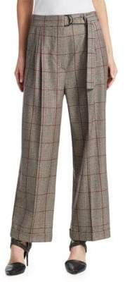 Brunello Cucinelli Wool Plaid Pants