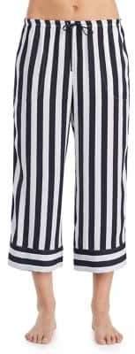 DKNY Stripe Cropped Pajama Pants