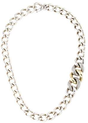 David Yurman Two-Tone Curb Link Chain Necklace