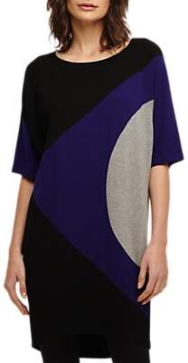 Hobbs Knit Tunic, Cobalt/Grey/Black
