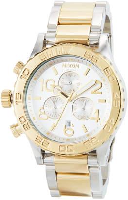 Nixon 42mm 42-20 Chrono Bracelet Watch, Silver/Golden
