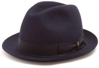 Borsalino - Alessandria Narrow Brim Felt Hat - Mens - Navy