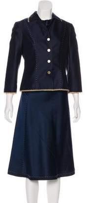 Alberta Ferretti Long Sleeve Midi Dress Set