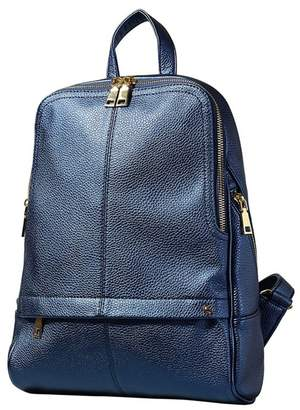 Yumi Navy Iridescent Metallic Backpack