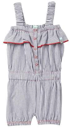 Lilly + Sid Vintage Frill Striped Playsuit (Toddler & Little Girls)