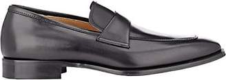 Barneys New York Men's Leather Apron-Toe Loafers - Black
