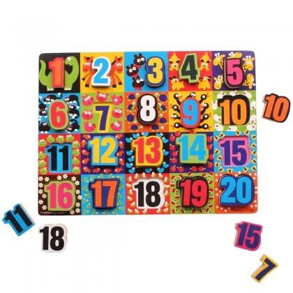 Melissa & Doug Jumble Numbers puzzle