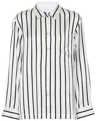 Asceno Striped silk pajama shirt