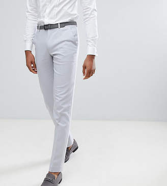 Asos DESIGN TALL Wedding Skinny Suit Pants In Ice Gray