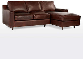 Rejuvenation Garrison Chaise Sectional Leather Sofa