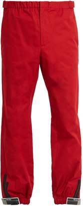 Slim-leg Velcro-cuff track pants