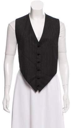 Saint Laurent Wool Pinstriped Vest