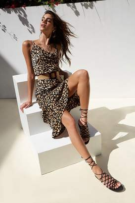 Forever 21 Abstract Leopard Print Maxi Dress