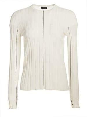 Akris Cashmere Silk Fine Lines Top