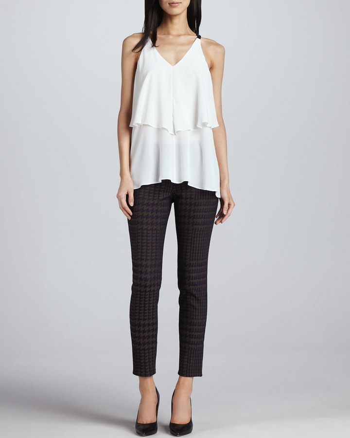 Yigal Azrouel Cut25 by Houndstooth Twill Pants