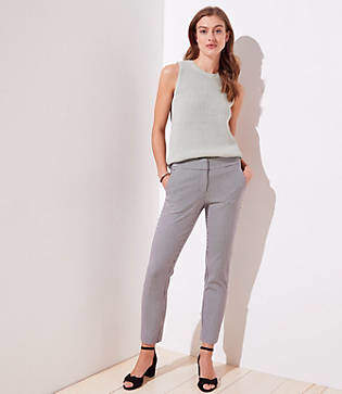 fc674cd10f7c1 LOFT Petite Gingham Skinny Ankle Pants in Julie Fit