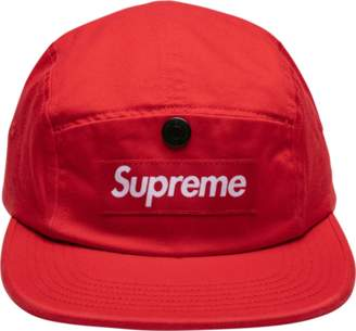 Supreme Snap Button Pocket Camp Cap - 'FW 18' - Red