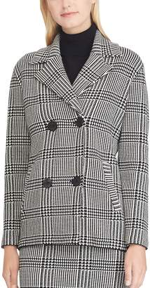 Chaps Women's Plaid Double-Breasted Sweater