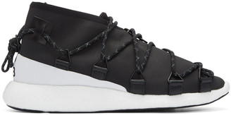 Y-3 Black Cross Lace Run Sneakers $365 thestylecure.com