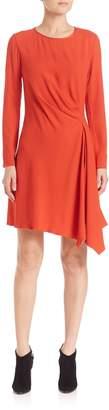 Natori Crepe Side Drape Dress