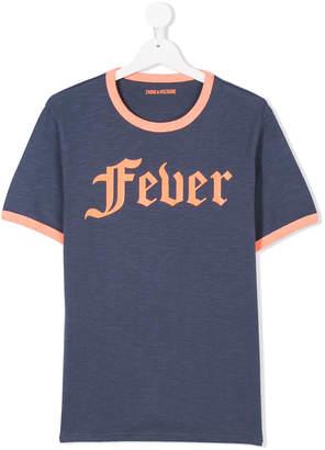 Zadig & Voltaire Kids TEEN fever print T-shirt