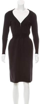 Alaia Wool Sheath Dress