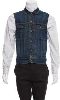 Rag & Bone Denim Button Up Vest