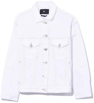 3x1 Oversized Classic Jacket in Winter White