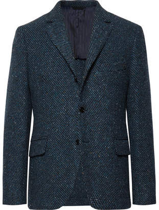 Piombo MP Massimo Blue Warhol Slim-Fit Virgin Wool-Tweed Blazer