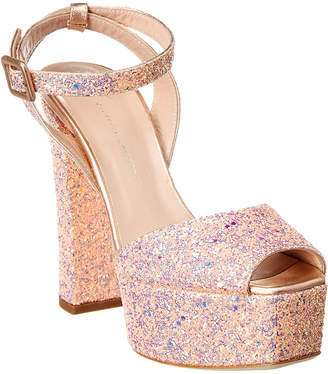 Giuseppe Zanotti Betty 120 Glitter Leather Platform Sandal