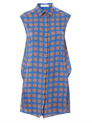 Thakoon Tile-print shirt dress