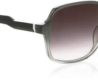 Diane von Furstenberg Evelyn Squared Gradient Sunglasses-Grey