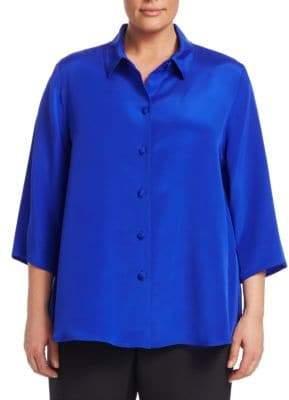 Caroline Rose Silk Crepe Shirt