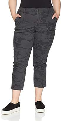 UNIONBAY Women's Plus Size Norma Stretch Twill Zipper Detail Crop Capri