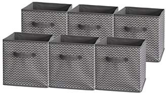 Sodynee Foldable Cloth Storage Cube Basket Bins Organizer Containers Drawers